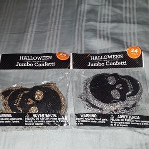 Halloween jumbo skulls confetti / BUNDLE ONLY